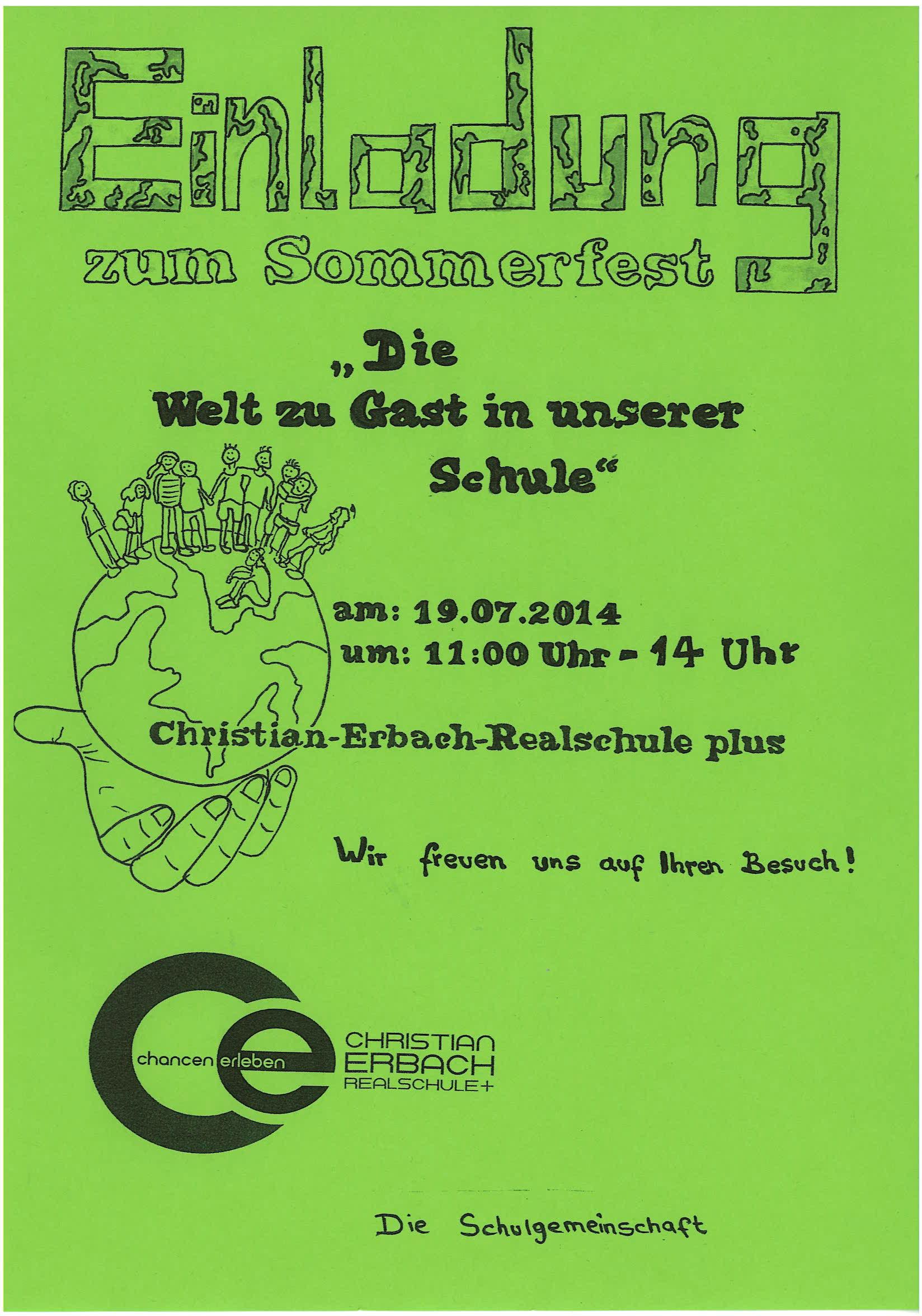 Einladung Schulfest