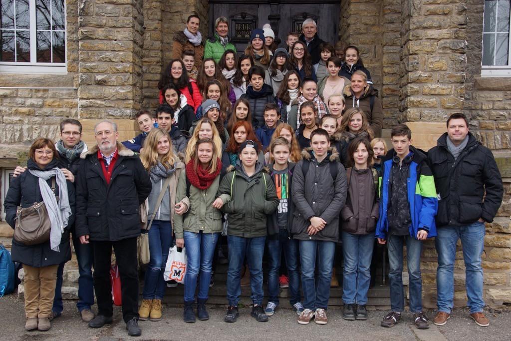 Gruppenfoto Schueleraustausch 2014